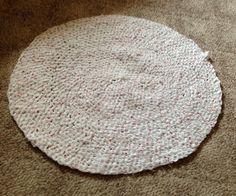 Crochet Rag Rug by BIZEbeez on Etsy, $30.00..made by Linda