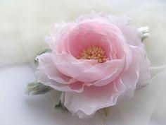 handmade flower light pink flower made of cloth by VarVaraMay