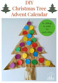 Our DIY Christmas Tree Advent Calendars are perfect for siblings or friends to make for each other and are a fab way to manage to anticipation for Christmas