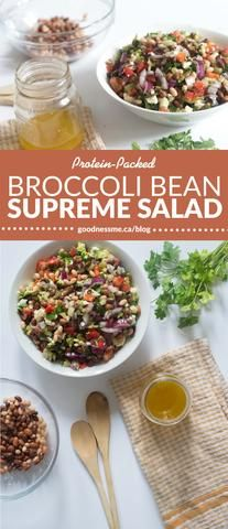 Bean salads are so easy to make up and have on hand for when you need a quick light meal, side dish or snack. We've upped the ante on bean salad and added in so
