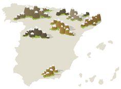 Estaciones de esquí en España.
