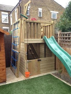 Fort Towers are a great way of fully utilising a small area of you garden! Fort Towers are a great way of fully utilising a small area of you garden! Kids Outdoor Play, Outdoor Play Areas, Backyard For Kids, Backyard Ideas, Small Yard Kids, Kids Yard, Backyard Games, Outdoor Games, Garden Climbing Frames