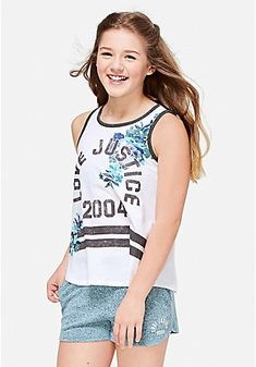 Shop Justice for a variety of girls' sports tops, like girls' pullovers, sport tunics, hooded tops & more. Tween Fashion, Cute Fashion, Trendy Fashion, Girls Sports Clothes, Girls Sportswear, Justice Clothing, Stylish Shirts, Cute Girl Outfits, Llama Plush