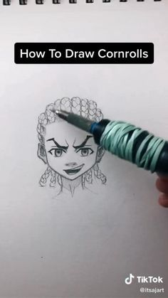 Art Drawings Sketches Simple, Pencil Art Drawings, Drawing Techniques, Drawing Tips, Drawing Hair Tutorial, Digital Art Tutorial, Drawing Challenge, Art Reference Poses, How To Draw Hair