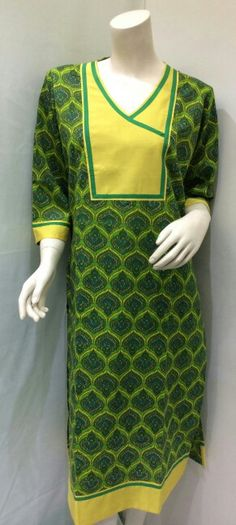 Cotton block printed kurti at www.rajdesignstusio.com