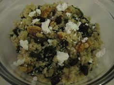 quinoa salad raisins goat cheese spinach apples