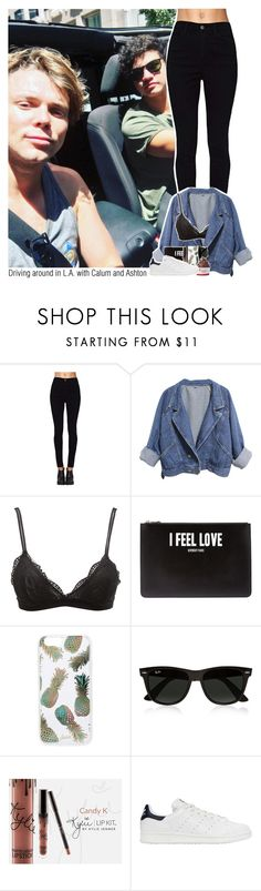 """Driving around in L.A. with Calum and Ashton"" by sixsensestyles ❤ liked on Polyvore featuring Charlotte Russe, Givenchy, Sonix, Ray-Ban, Disney and adidas Originals"