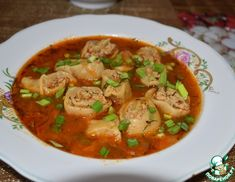 Рецепт: Суп Ленивчик Thai Red Curry, Ethnic Recipes, Food, Meals, Yemek, Eten