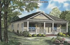 """""""8 inch box columns on Front covered Porch Entry to Living room Open Dining room Functional and convenient Kitchen Master suite with private bath Master ba"""