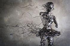 Dynamic steel sculptures by Regardt van der Meulen - Bleaq