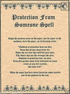Protection From Someone Spell