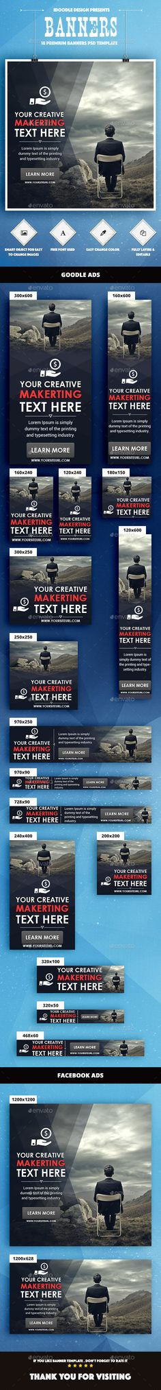 Multipurpose Web Banners Template PSD #ad #promotion Download: http://graphicriver.net/item/multipurpose-banners-ads/14525167?ref=ksioks