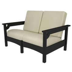 another easy to build from 2 x 4? POLYWOOD Club Settee in Black/Bird's Eye-PWCLC47BL-5472 - The Home Depot