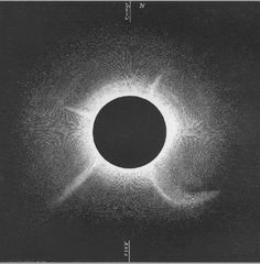drawing of the total solar eclipse of 1860