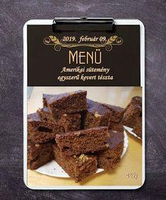 Viki Egyszerű Konyhája: Amerikai sütemény - egyszerű kevert tészta Desserts, Food, Tailgate Desserts, Deserts, Essen, Postres, Meals, Dessert, Yemek