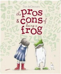 Pros and Cons of Being a Frog is a lovely picture book about a friendship between an unlikely couple.  Most interestingly, one of the children may very well be on the spectrum (communicates in numbers) and with sensory needs (wiggles and needs frequent breaks). A sweet story of learning to understand others' differences. Best for slightly older kids (4+)