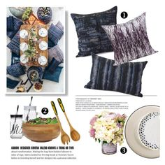 """Summer Outdoor Dining"" by gentillehome ❤ liked on Polyvore featuring interior, interiors, interior design, home, home decor, interior decorating, New Look, Lipper, Royal Doulton and NOVICA"