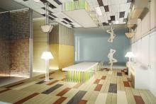 Double Room area living, Porcelanosa Grupo, 2014, intervento di Laura Zeni - Irma Bianchi Comunicazione