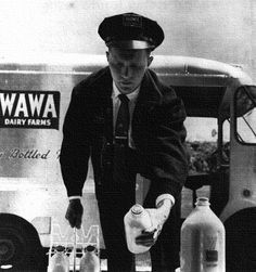 Wawa Milkman - 1955 - yep I remember this - he came everyday!The bottles were glass and the tops were not sealed - just in place with a cardboard top.
