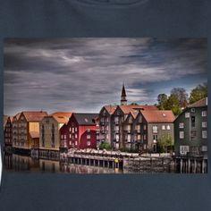 Trondheim Altstadt - Frauen Bio-Hoodie