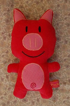 doudou-cochon pitchi-pitchi Sock Animals, Shoe Box, Cat Toys, Softies, Diy For Kids, Eye Candy, Hello Kitty, Sewing Projects, Crochet