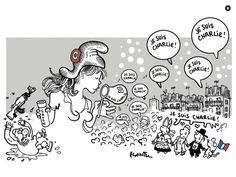 #CharlieHebdo #MarcheRepublicaine #Marchedu11janvier #jesuischarlie #noussommescharlie #charlie  Par Plantu