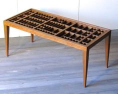 Printers drawer coffee table - saw this one on Etsy and it got me thinking.....