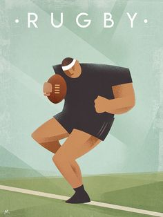 Vintage Rugby - Sports canvas art now available at TouCanvas! Rugby Sport, Rugby Men, Rugby Wallpaper, Rugby Poster, Sports Wall, Herve, Photo Center, Rugby Players, Creative Advertising