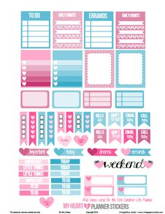 Hello blog followers and visitors! Now that you are probably getting into the planning mode for 2016; today, I am releasing a new set of stickers for the Erin Condren Life Planner (vertical) ! I am also changing a few things on my layouts so that, hopefully, it's clear for which specific planner the original … Continue reading My Heart Planner Stickers – Free Printable →