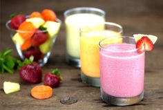 """<p>These No-Protein-Powder Protein Smoothies are totally plant-based. The raw vegan recipes are easy to make and taste great, even though they all contain a vegetable. You won't even taste the """"green""""…promise!</p>"""