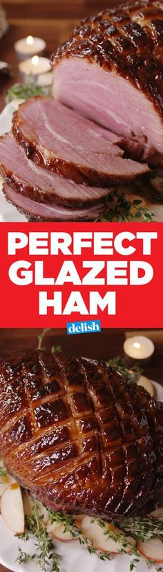 This Perfect Glazed Ham is the only holiday main you nee… – Easter Recipes Dinner Holiday Ham, Christmas Ham, Holiday Recipes, Christmas Recipes, Christmas 2017, Holiday Treats, Best Glazed Ham Recipe, Ham Recipes, Cooking Recipes