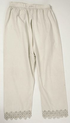 Pantalets 1802–20 - in the Metropolitan Museum of Art costume collections.