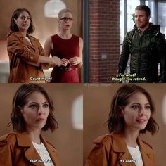 I only watch Arrow during crossovers with Supergirl and The Flash, and this was a great line. Arrow Funny, Arrow Memes, Arrow Cw, Team Arrow, Arrow Felicity, Superhero Shows, Superhero Memes, Arrow Tv Series, Cw Series