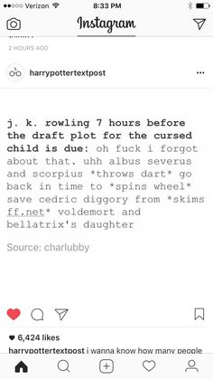 If jk rowling actually wrote cursed child this might be funny