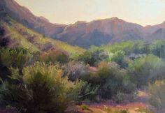 plein désert de l'air paysage d'huile  11x14in  1000usd