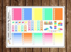 A personal favorite from my Etsy shop https://www.etsy.com/listing/262965264/macaroons-planner-stickers-planner