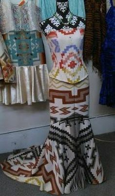 Traditional Authentic Native Designs by Irene Begay, Navajo. Native American Wedding, Native American Dress, Native American Regalia, Native American Fashion, Pretty Outfits, Pretty Dresses, Cool Outfits, Native Fashion, Native Wears