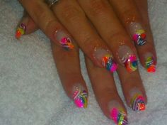 neon crazy!!!!!!!!!! by liz_est1985 from Nail Art Gallery