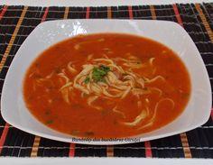 Supa de rosii cu taitei de casa - Bunătăți din bucătăria Gicuței Thai Red Curry, Vegan, Ethnic Recipes, Cooking Ideas, Food, Iphone, Salads, Essen, Yemek