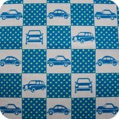 KOKKA - Funky Fabric - Cars - Blue - FQ