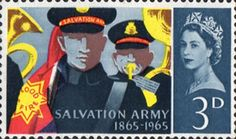 Salvation Army Centenary 3d Stamp (1965) Bandsmen and Banner