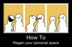Regain personal space - I'd so do this. <3