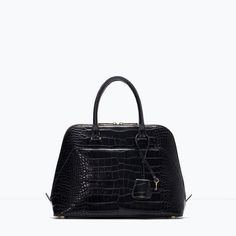 Image 1 of Mock croc city bag from Zara