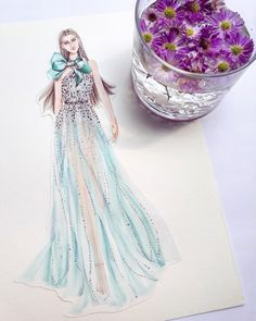Elie Saab - s/s 2018 Couture   #eliesaabhautecouture #eliesaab #illustration #illustrator #illustratorartists #illustrations #illustrators #art #artist #artwork #artworks #sketches #sketch #sketchings #artist #hautecouture #dress #dresses #dreamer #arronlamaluan