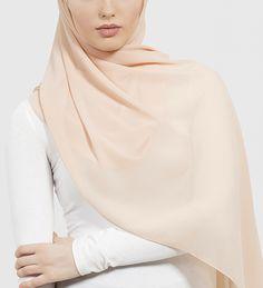 Apricot Soft Crepe Hijab - £11.90 : Inayah, Islamic Clothing & Fashion, Abayas, Jilbabs, Hijabs, Jalabiyas & Hijab Pins