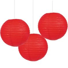 Red Paper Lanterns - Party City Would be cute to hang from ceiling in reading corner