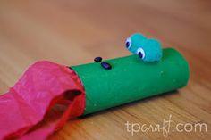 Easy paper roll dragon craft. Cute.