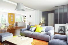 Maison - Maison Plain-Pied 3 Chambres avec Suite Parentale - Maison FAMILIALE - 138700 euros - 110 m2 | Faire construire sa maison Sofa, Couch, Construction, Sweet Home, Furniture, Home Decor, Plans, France, How To Plan