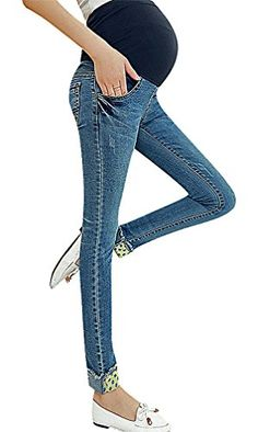 6efde88555779 USR Womens Eclectic Styles Rip Detail Secret Fit Belly Maternity Skinny  Jeans Dots 4 ManufacturerM *