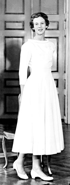 On April 1st, 1955 Queen Margrethe of Denmark celebrated her confirmation.